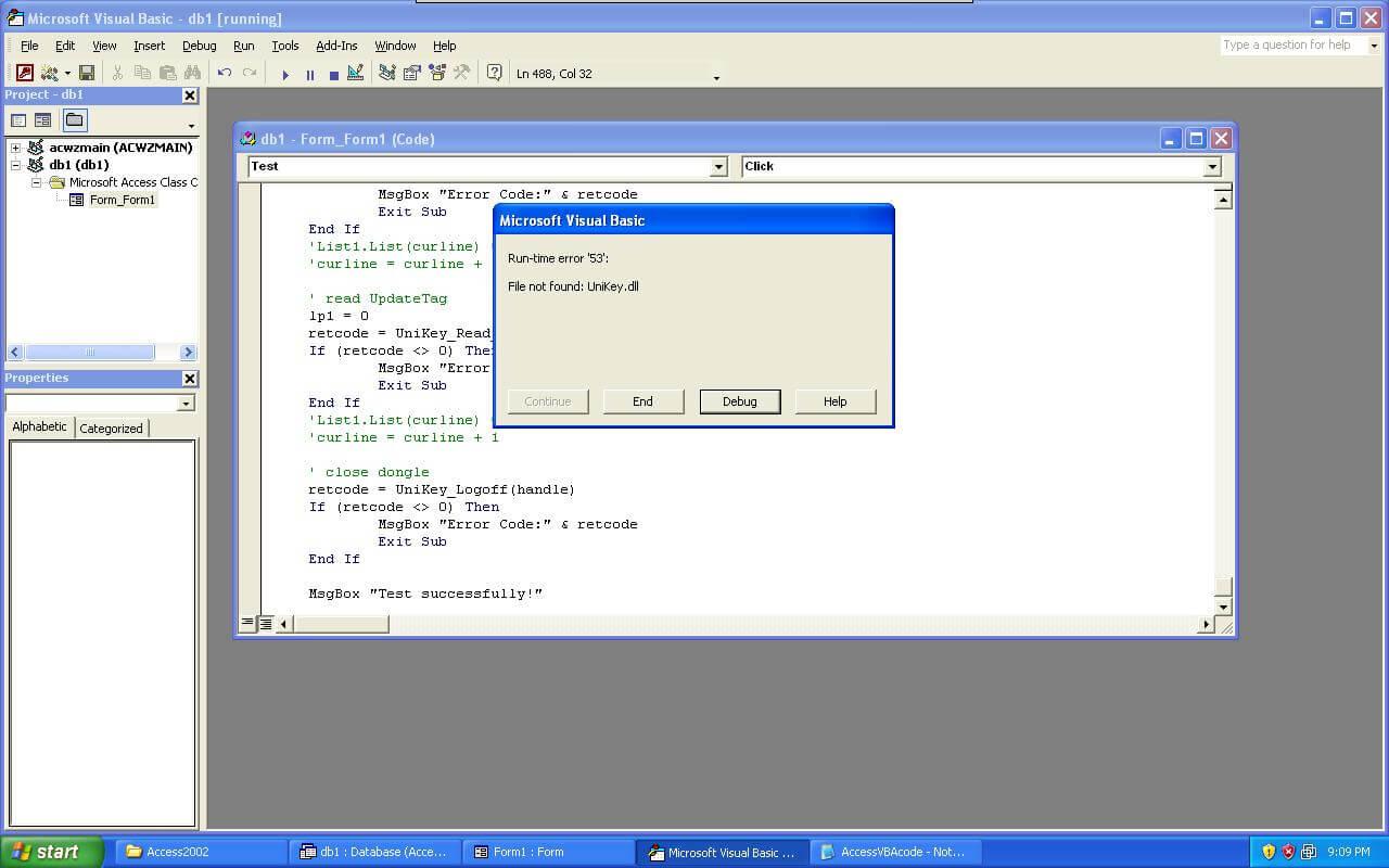 Step7, Run time error for find no UniKey.dll