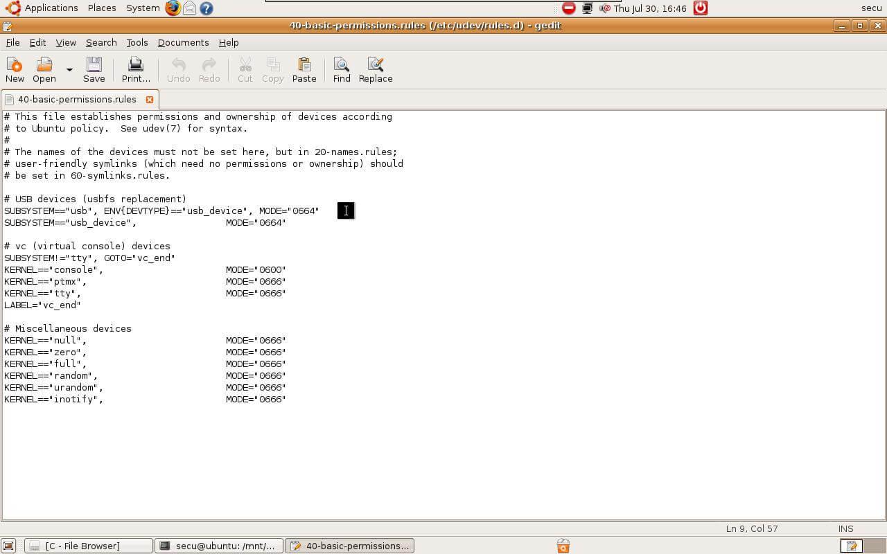 Step2, Modify udev file