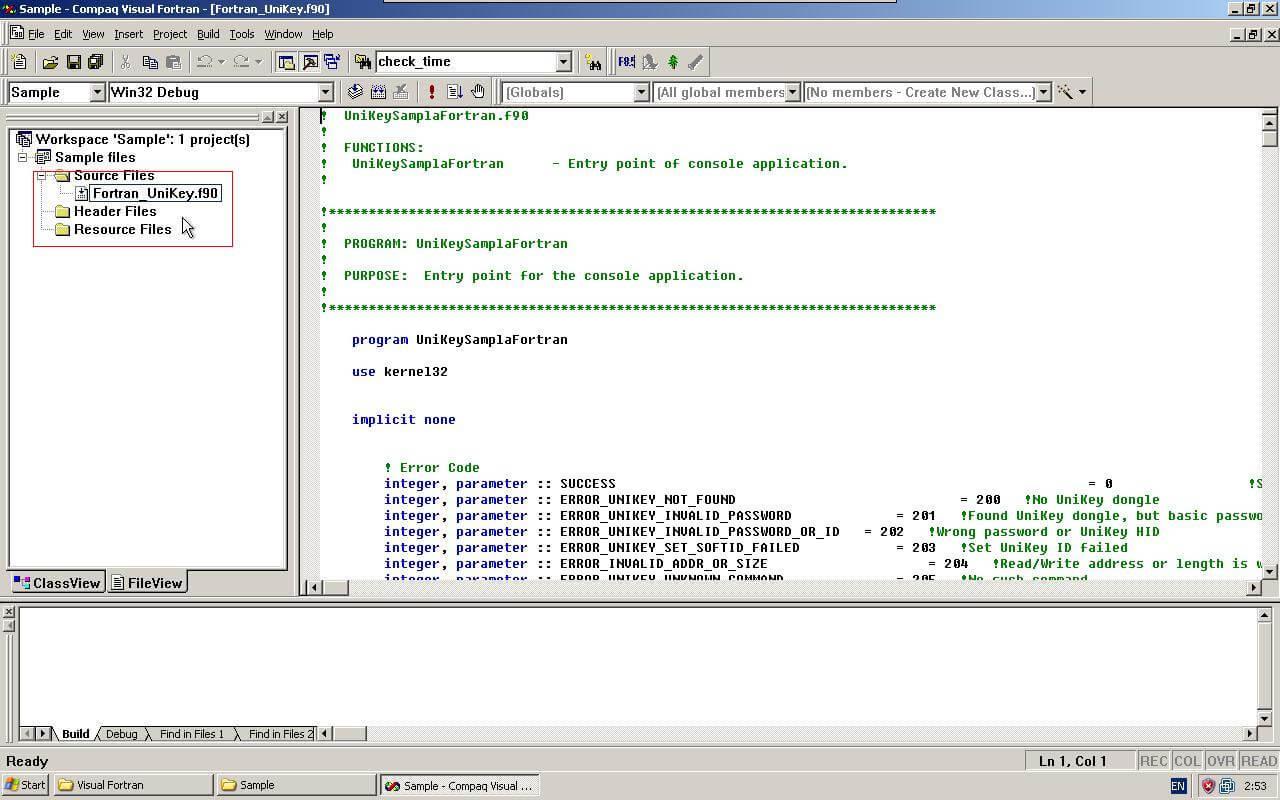 Compaq fortran compiler